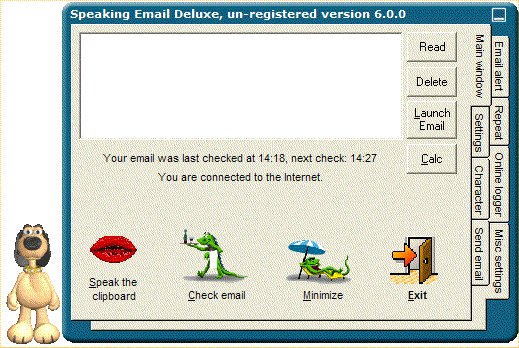 Speaking Email Deluxe Screenshot