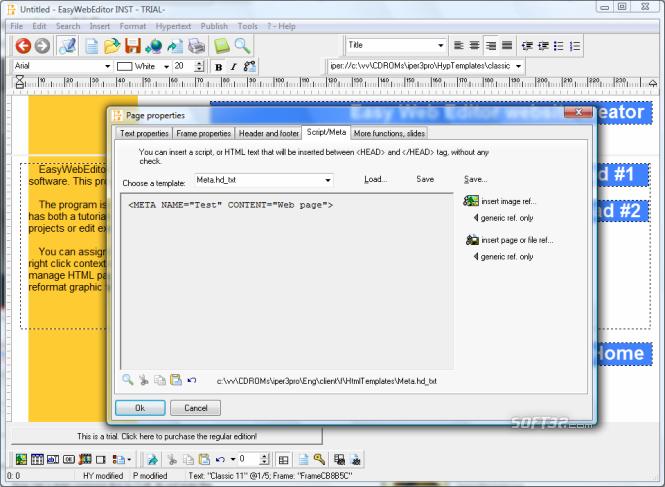 Easy Web Editor website creator Screenshot 5