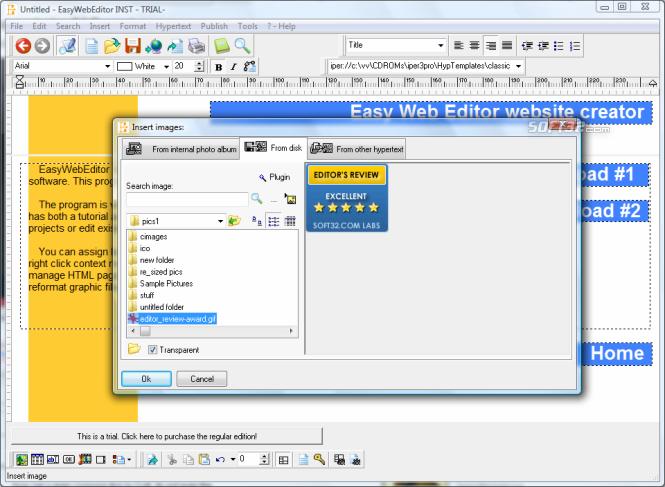 Easy Web Editor website creator Screenshot 6