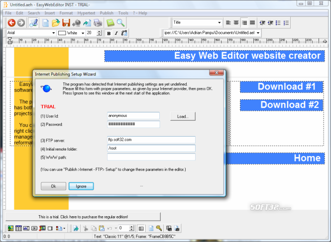 Easy Web Editor website creator Screenshot 4