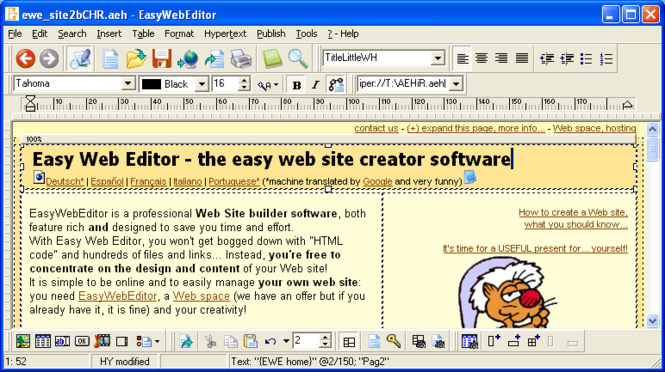 Easy Web Editor website creator Screenshot
