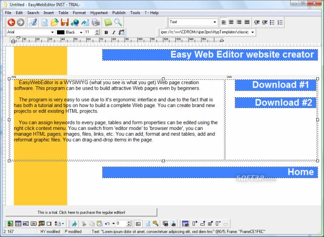 Easy Web Editor website creator Screenshot 3
