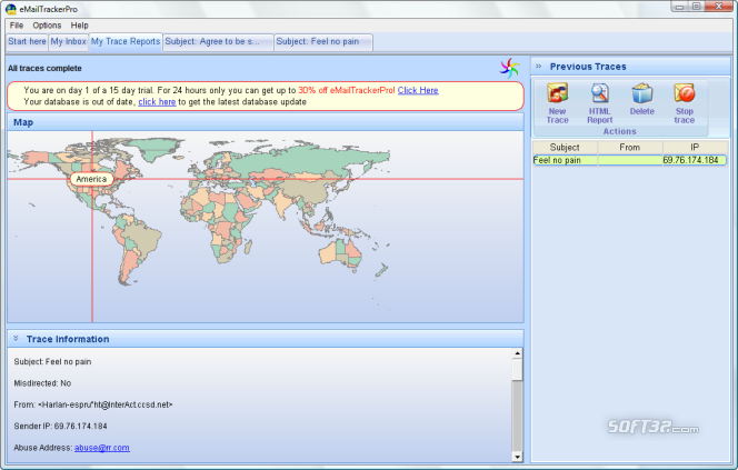 eMailTrackerPro Screenshot 5