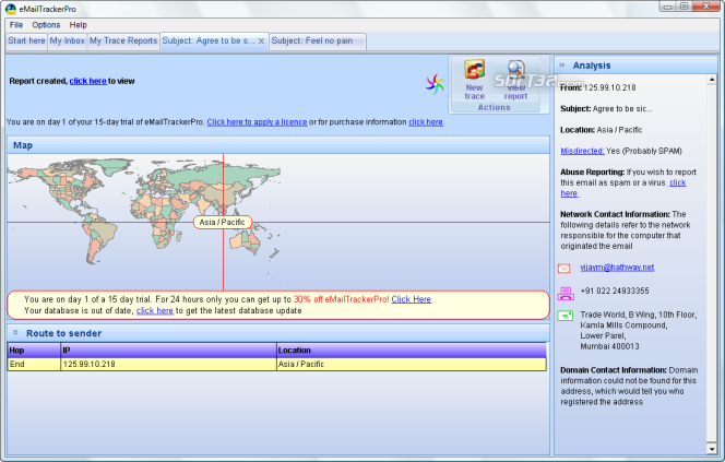 eMailTrackerPro Screenshot 6