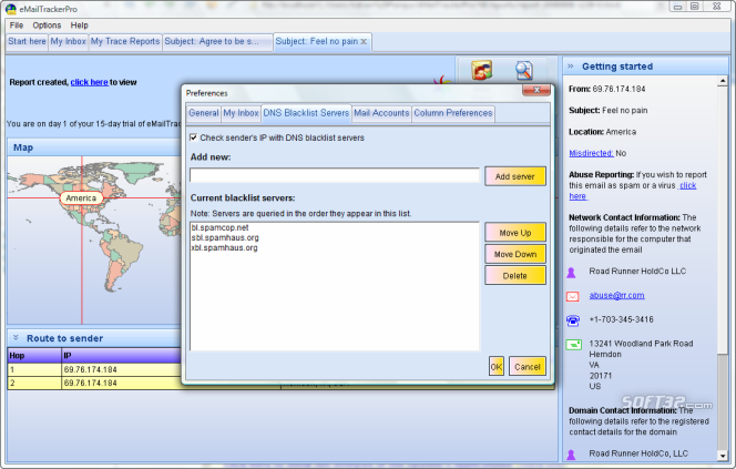 eMailTrackerPro Screenshot 7
