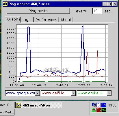 Visual Ping monitor Screenshot 3