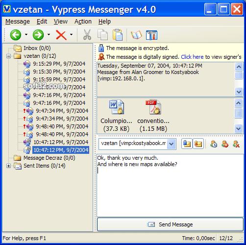 Vypress Messenger Screenshot 2
