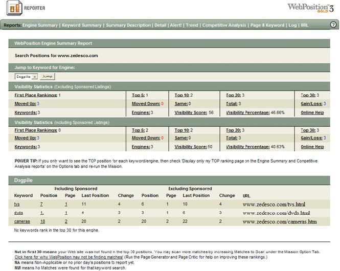 !#1 Web Position Gold WebPosition Pro SEO Software ! Screenshot 3