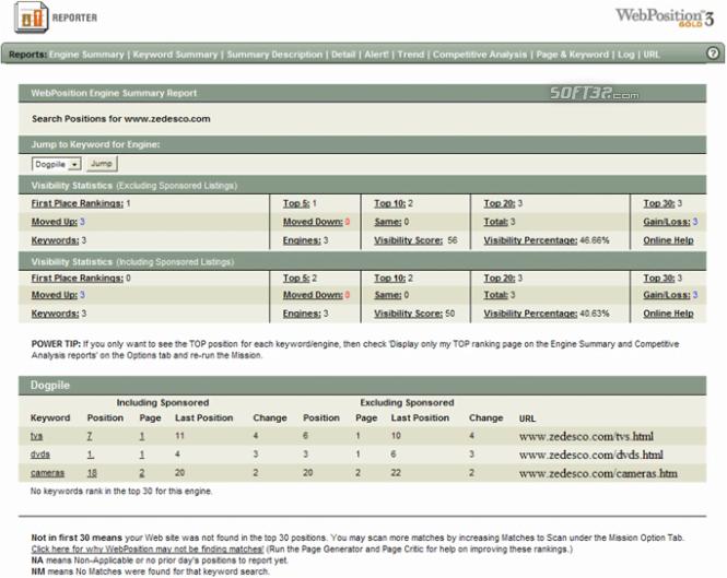!#1 Web Position Gold WebPosition Pro SEO Software ! Screenshot 4