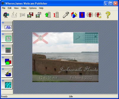WheresJames Webcam Publisher Screenshot