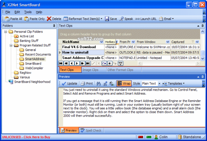 X2Net SmartBoard Screenshot