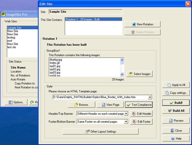 ImageSite Pro Screenshot