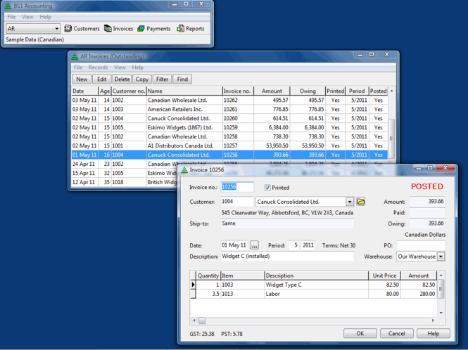 BS1 Accounting Screenshot 1