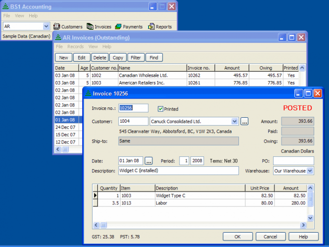 BS1 Accounting Screenshot 3
