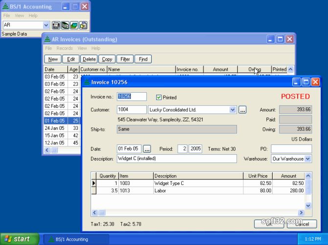 BS1 Accounting Screenshot 2