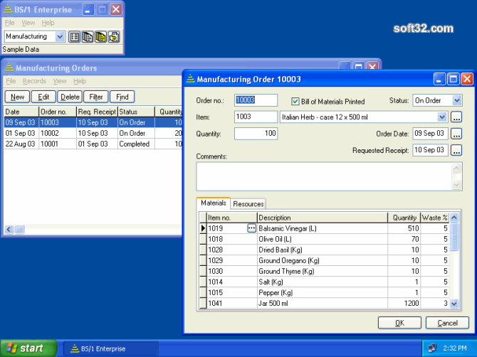 BS1 Enterprise with Manufacturing Screenshot 3