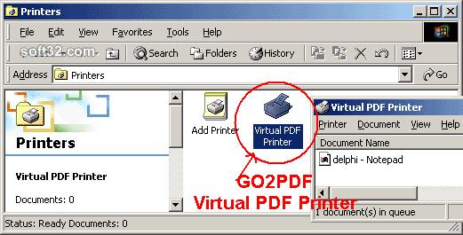 Go2PDF Screenshot 2