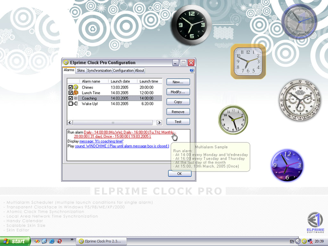 Elprime Clock Pro Screenshot