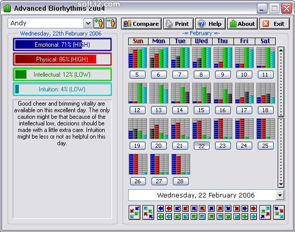 Advanced Biorhythms Screenshot 2