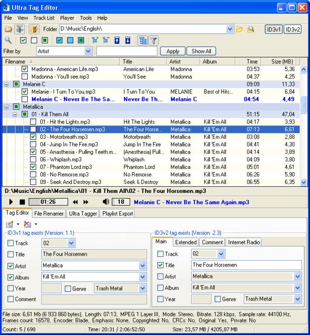 Ultra Tag Editor Screenshot