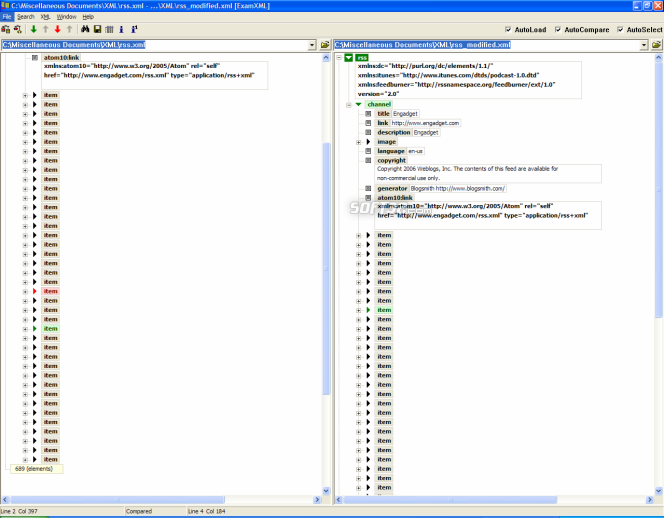 ExamXML Screenshot 2