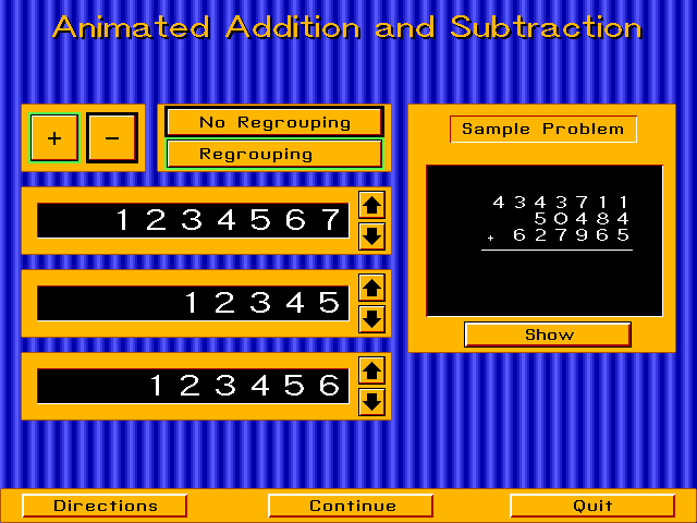 Animated Arithmetic Screenshot