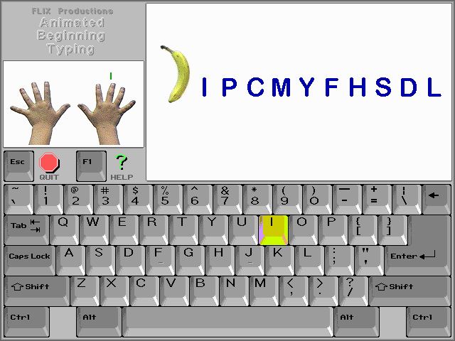 Animated Beginning Typing Screenshot