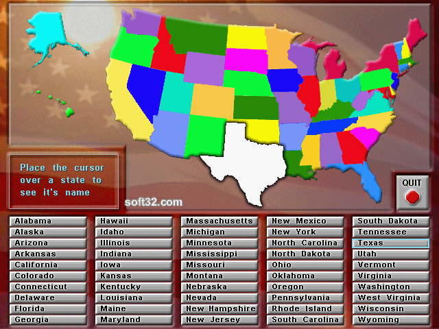 Animated States and Capitals Screenshot 3