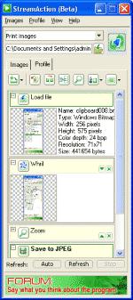 StreamAction Screenshot