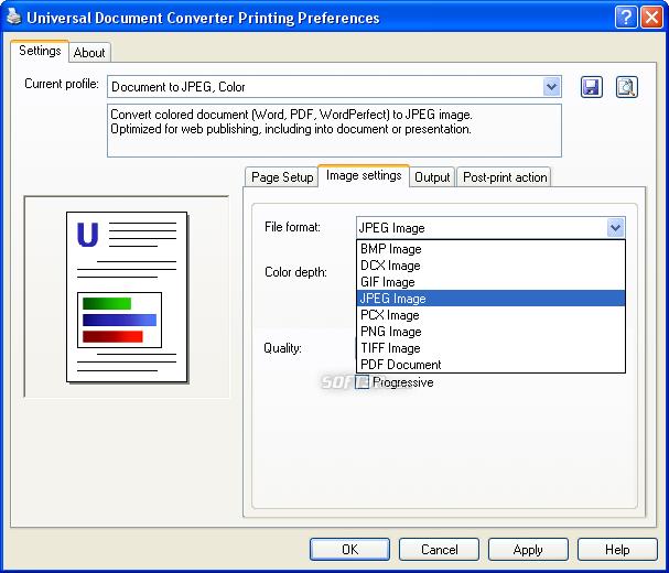 Universal Document Converter Screenshot 5