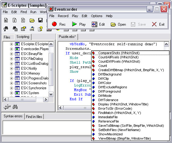Eventcorder suite Screenshot