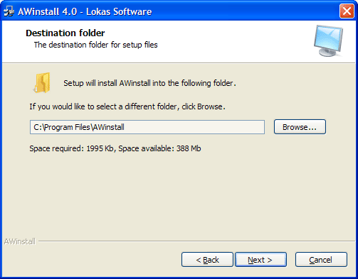 AWinstall Screenshot 1