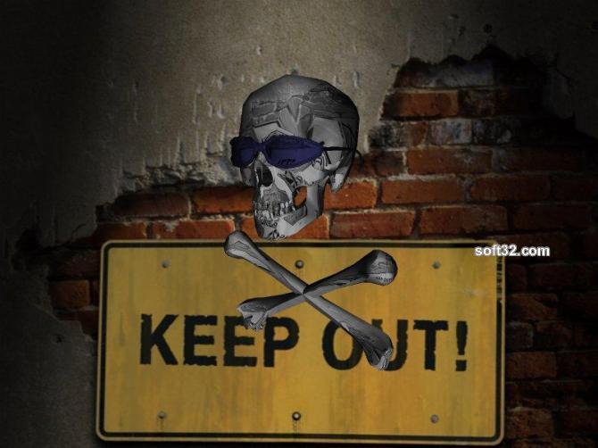 Keep Out 3D Screen Savers Collection Screenshot 1