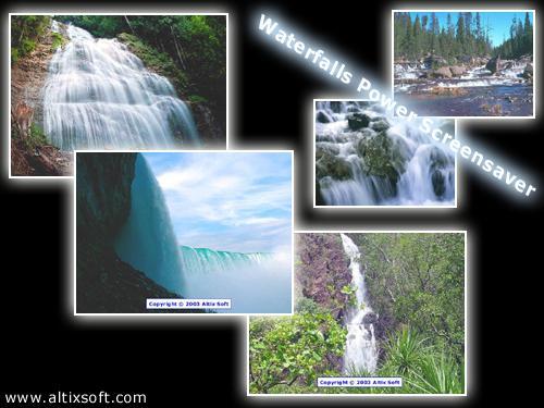 Waterfalls Power Screensaver Screenshot 1