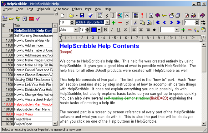 HelpScribble Screenshot