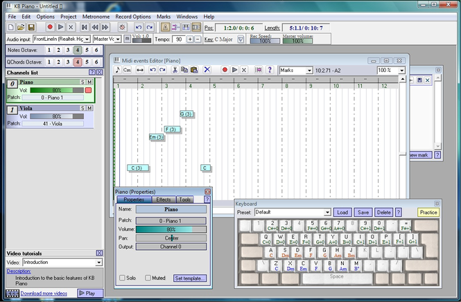 KB Piano Screenshot 1