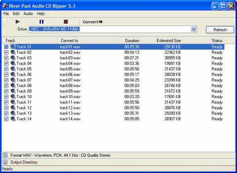 River Past Audio CD Ripper Screenshot
