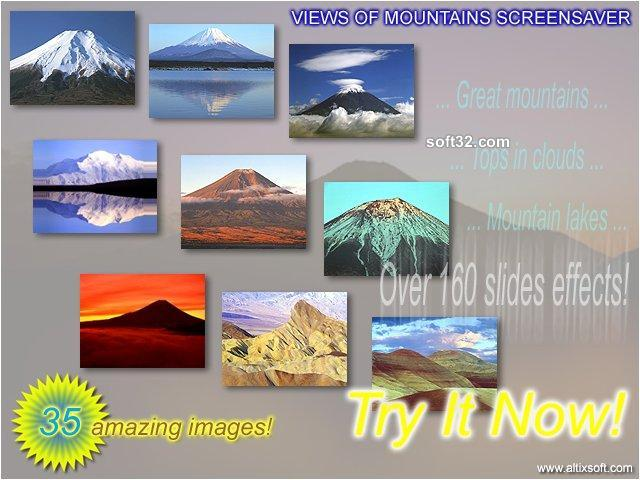 Views of Mountains Screensaver Screenshot 3
