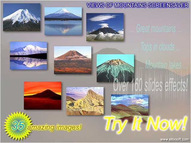 Views of Mountains Screensaver Screenshot
