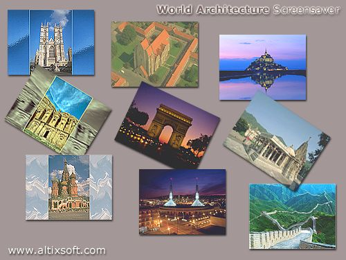 World Architecture Screensaver Screenshot