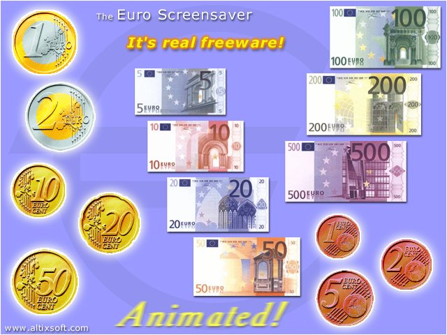 Euro Screensaver FREE Screenshot 1