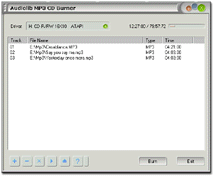 Audiolib MP3 CD Burner Screenshot 1