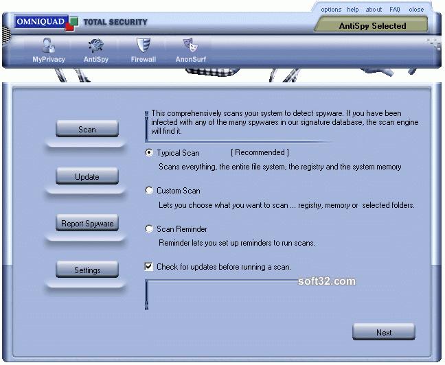 AntiSpy Screenshot 2