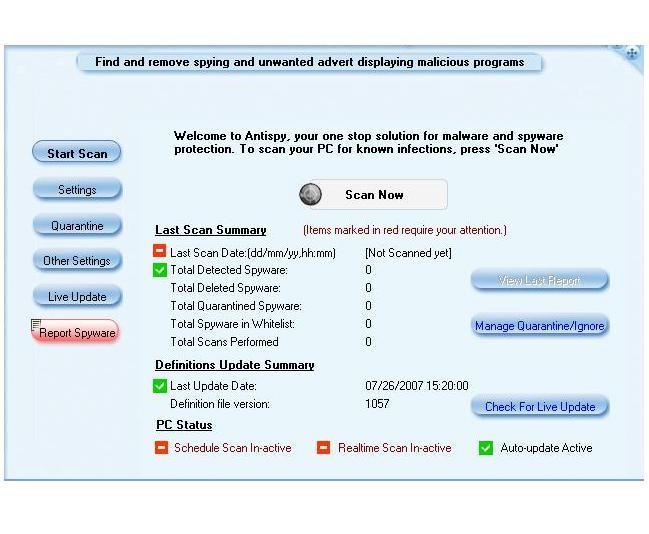 AntiSpy Screenshot 1
