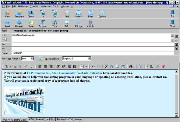 FastTrack Mail Screenshot
