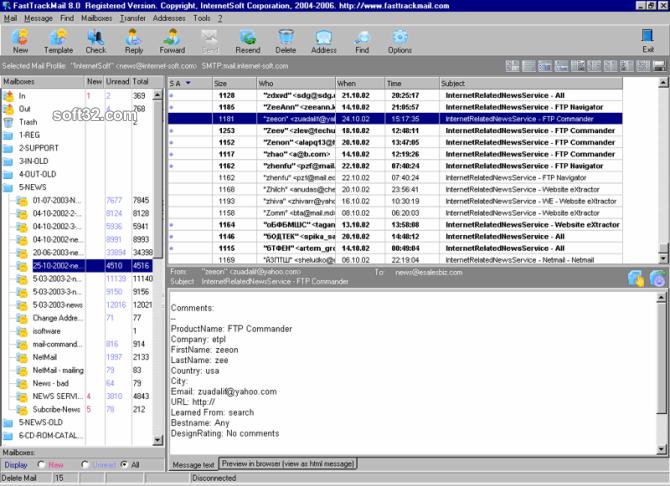 FastTrack Mail Screenshot 2