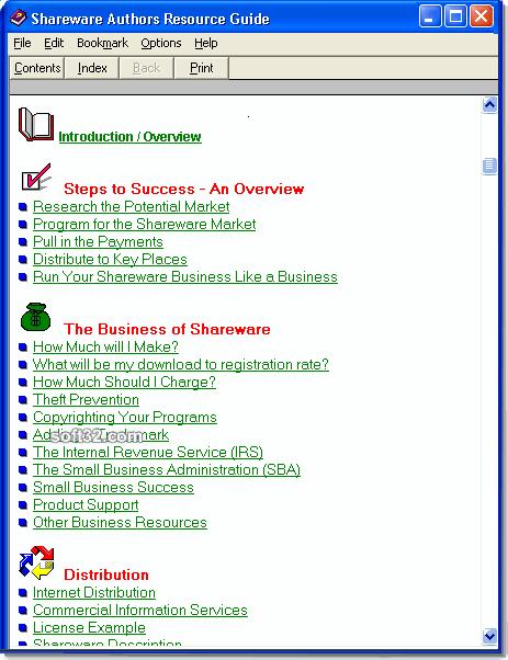 Shareware Authors Resource Guide Screenshot 2