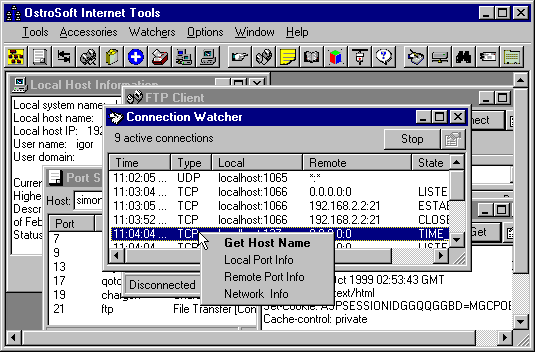 OstroSoft Internet Tools Screenshot