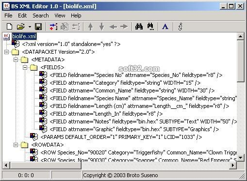 BS XML Editor Screenshot