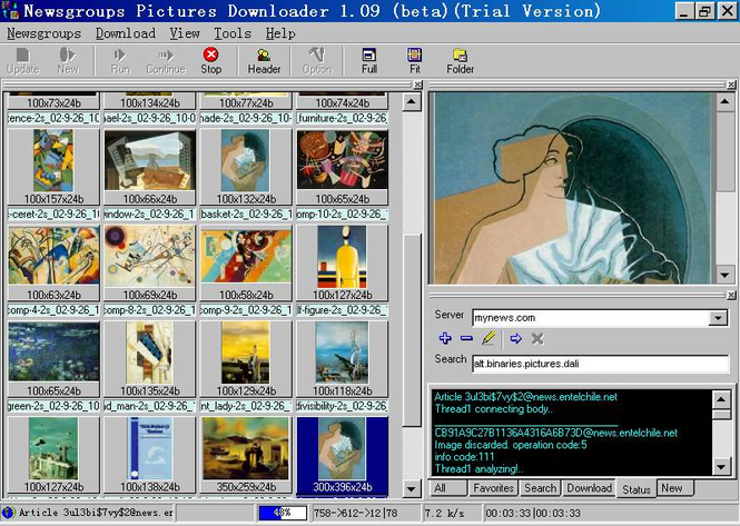 Newsgroups Pictures Downloader Screenshot